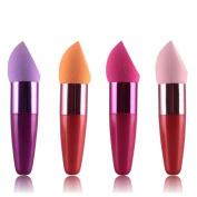 Sannysis 1 Pcs Women Cosmetic Liquid Cream Foundation Concealer Sponge Lollipop Brush