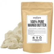 Pure Mango Butter by Better Shea Butter - Expeller Pressed, Cosmetic Grade - Unscented, Smooth, Moisturising, Vegan - Can be Used as a Lighter Alternative to Unrefined Shea Butter - 0.5kg