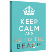 ArtWall Art D. Signer 'Keep Calm and Go to the Beach' Gallery-wrapped Canvas