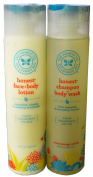 The Honest Company Shampoo and Body Wash + Face and Body Lotion-250ml each