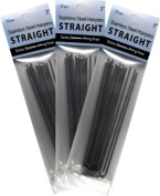 3 Pack 7.6cm Straight Stainless Steel Snagless Amish Made Hair Pins