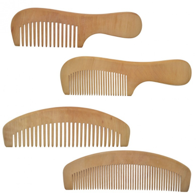 Lclhb® 17cm - 18cm 4pcs Hair Comb Handmade Natural Wooden Combs,wood with Anti-static & No Snag Handmade Brush for Beard Wd03 (WD0301(4PCS))