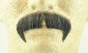 Rubies Winchester Moustache DARK GREY - no. 2028 - REALISTIC! 100% Human Hair