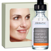 Best Vitamin C and E Serum with Hyaluronic Acid from YEOUTH - Anti Ageing, Evens Skin Tone and Rids Skin of Blotchiness, Repairs Sun Damage and Age Spots, Fills Wrinkles 100.