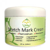 Best Moisturising Stretch Mark Cream for Men/Women- Fast Removal, Prevention and Repair of Old/new Marks- Perfect for Before, During and After Pregnancy- Contains Vitamin E, Aloe Vera and Shea Butter