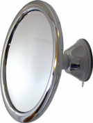 Fog Free 3X Shower Mirror and Makeup Mirror by Mirror On A Rope With Locking Suction Mount and Ball Joint Swivel