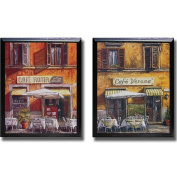 Malcolm Surridge 'Italian Cafe' Framed 2-piece Canvas Art Set