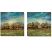 Carol Robinson 'Clearing Sky I and II' 2-piece Canvas Set