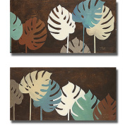 Patricia Pinto 'My Fashion Leaves I and II' 2-piece Canvas Set