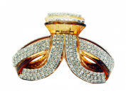 JCPeniel Large Twist Fancy Good Quality Rhinestones Claw Clip Jaw Clips For Thick Hair