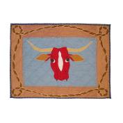 Patch Magic Cowboy Long Horn Pillow Sham, 70cm by 50cm
