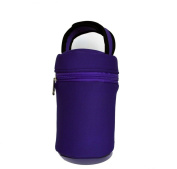 Baby Bottle Tote Bag-this Purple Thermal Bottle Carrier Keeps Your Infant's B...