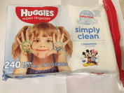 Huggies Wipes Lingerettes Simply Clean, Fragrance Free 240 Wipes