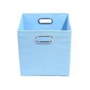 Baby Blue 13x13x13 Folding Storage Bin by Alexi Ricci Storage with Style Collection