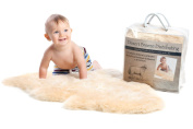 New Zealand Unshorn Lambskin for Baby - Long Wool - 100% Natural and Luxuriously Soft Sheepskin Care (size LRG