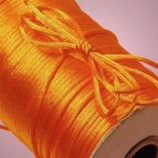 100Yards 2MM Beading Cord Satin Rattail Cord Trim Shamballa Macrame Beading Nylon Kumihimo String Crafts Orange