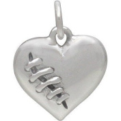Sterling Silver Mended Heart Charm -16.5mm