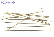 50 ea 14k GOLD FILLED HEAD PINS 26 ga 5.1cm