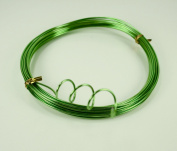 APPLE GREEN Aluminium Wire Crafting, Floral or Jewellery Making embellishments 10 YDS