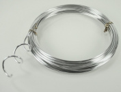 SILVER Aluminium Wire Crafting, Floral or Jewellery Making embellishments 10 YDS