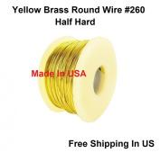 26 Ga Round Half Hard Yellow Brass Wire