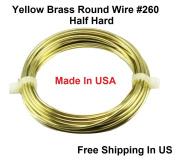 12 Ga Round Half Hard Yellow Brass Wire
