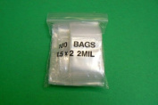 Small Clear Zip Seal Bags 2mil Poly Bag 1.5 X 2 100