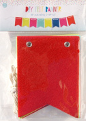 DIY Colourful Felt Banner with Rope String