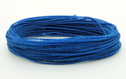 BLUE 1mm Waxed Polyester Twisted Cord Macrame Bracelet Thread Artisan String