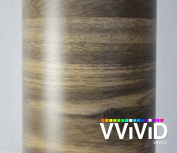 VVIVID Mountain Oak Wood Grain Faux Finish Textured Vinyl Wrap Film for Home Office Furniture DIY Easy to Instal No Mess 0.3m x 120cm