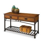Modern Craftsman Distressed Oak Sofa Table