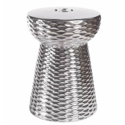 Abbyson Living Madison Silver Chrome Ceramic Garden Stool