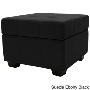 Vanderbilt Tufted Panel Stitched Padded Hinged 60cm Square Storage Ottoman Bench