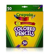 Crayola 50ct Long Coloured Pencils (68-4050)