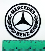 3 Patch White Mercedes Benz Automobile Car Motorsport Racing Logo Patch Sew Iron on Jacket Cap Vest Badge Sign