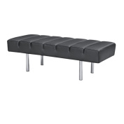 Classic Leather 2-seater Bench
