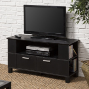 Contemporary Black Wood 110cm TV Stand
