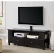 Black Wood 150cm TV Stand with Mount