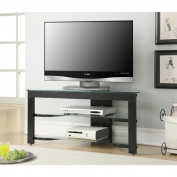 Convenience Concepts Designs2Go Wood and Glass Black TV Stand