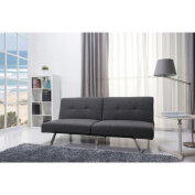 Jacksonville Grey Fabric Futon Sleeper Sofa Bed