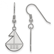 925 Sterling Silver Rhodium-plated Sororities Sigma Sigma Sigma Small Dangle Earrings