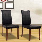 Yvonne Espresso Living Room Dining Chairs