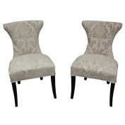 Cosmo Cream Fan Damask Dining Chair