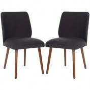 Safavieh Retro Brown Linen Blend Side Chairs