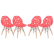 Akron Red Cutout Side Chair