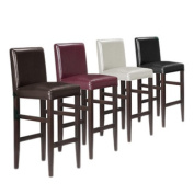 Kendall Contemporary Wood w/ Faux Leather Barstool