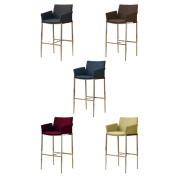 Mcguire Upholstered Bar Stools With Chrome Legs