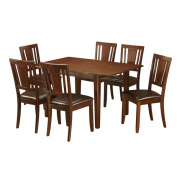 7-piece Kitchen Nook Table and 6 Dining Chairs