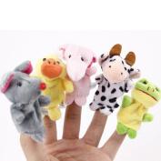 10 pcs Baby Fingers Plays Learn Animal Puppet Toys Velvet Dolls Storytime Game