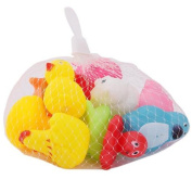 13pcs Mixed Float Toys Sqeeze Soft Sound Toy- Duck,Fish,Pig ,Frog Animal Style